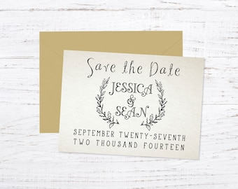 Save the Date Magnet OR Printed Card, Photo Save the Date, Rustic, Country, Fall