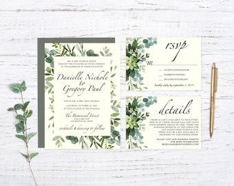Greenery Printed Wedding Set