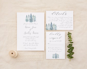 Wedding Invitation Simple Forest