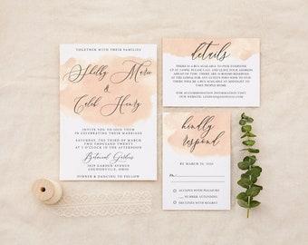 Wedding Invitation Creamy Blush