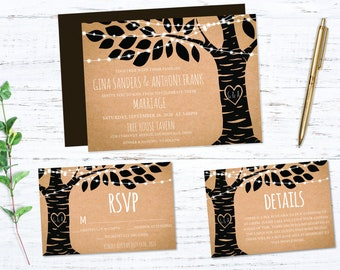 Enchanting Woodland Printed Wedding Set