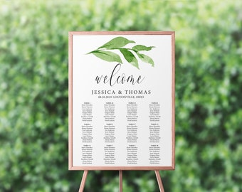 Printed Wedding Seating Chart