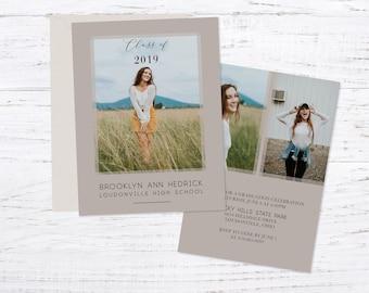 Graduation Announcement, Graduation Invitation, Photo Graduation Announcement, 2 Sided Printed Graduation Announcement, Envelopes Included