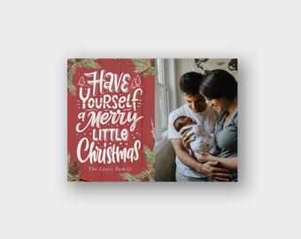Christmas Photo Card Printed, Christmas Greeting Card, Merry Christmas Card, holiday cards, holiday photo card