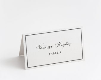 Printed Place Card, Minimal Script