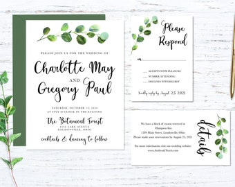 Eucalyptus Printed Wedding Set