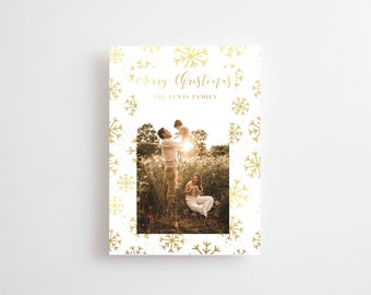 Christmas Photo Card Printed, Christmas Greeting Card, Merry Christmas Card, Holiday card, Holiday Photo Card