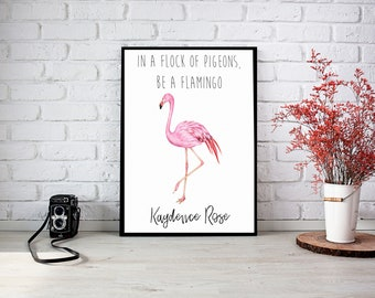 Be a Flamingo Framed Wall Print