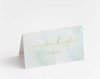 Printed Place Card, Gold Foil