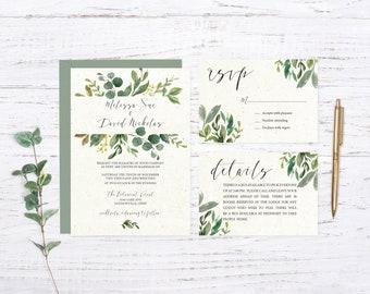 Sage Garden Woodland Printed Wedding Set