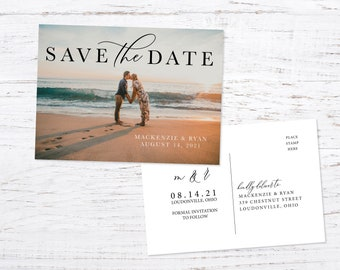 Save the Date Postcard OR Magnet, Photo Save the Date, Save our Date