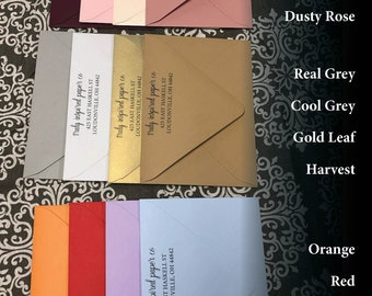 Colored Envelopes, 25 per Pack