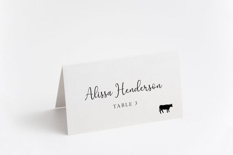 Printed Place Card Wedding Name Card Wedding Table Card image 0