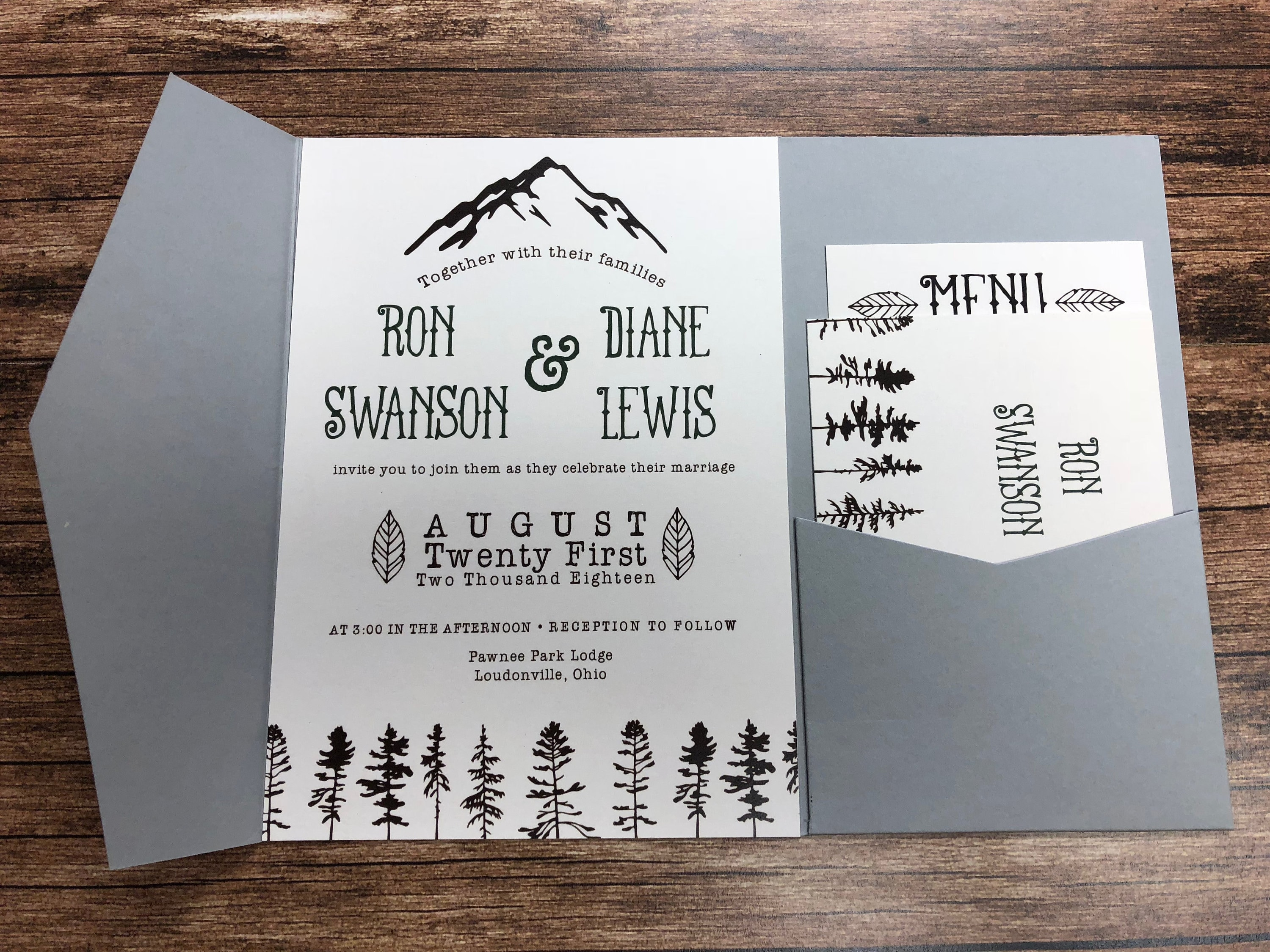 adventure awaits printed wedding invitation suite fast shipping