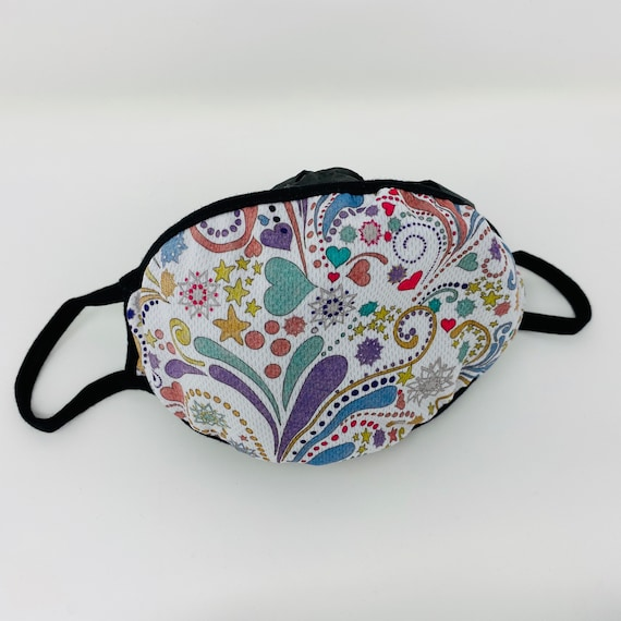 Face Mask, Comfortable Long Wearing, Fashionable Swirl & Heart Designed, Washable, Reusable Face Covering