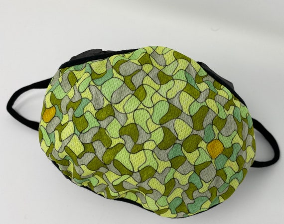 Face Mask, Fashionable Chartreuse Puzzle Design, Washable Face Mask Accessory, Travel Mask