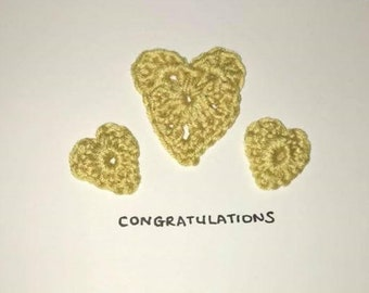 Beautiful Handmade Card - Congratulations, New Baby, Well Done, Get Well, Anniversary, Just a Note....
