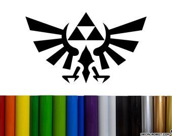 Zelda Hylian Crest Vinyl Decal Sticker