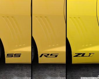 Camaro SS / RS / ZL1 Pair Vinyl Decal Sticker