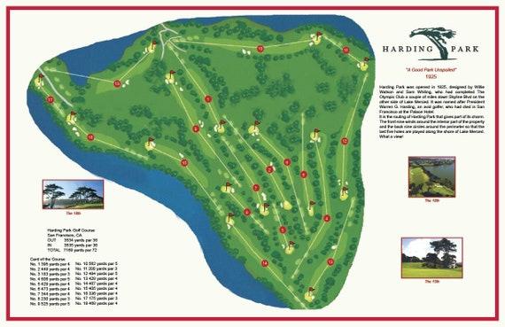 Harding Park Golf Course Etsy