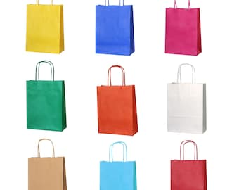 f1ebc6e63b 10 Colour Paper Party Gift Bags with Twist Handles for Parties