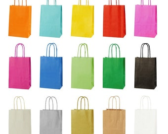 60a2b83bea4 10 Twist Handle Paper Party Bags- Size Extra Small 14 X 8 X 21cm
