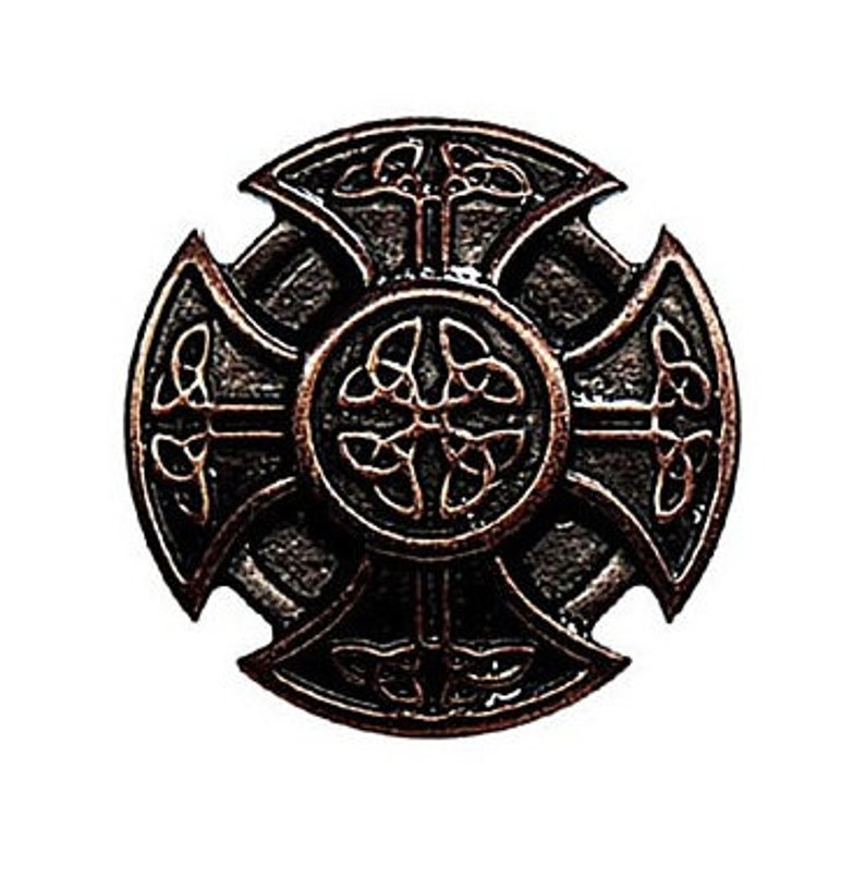 10 Ornamental Rivets CROSS of THE KELTEN Old Bronze Ornamental Rivet Celtic Cross Rivet Celtic Braidcross Rives Conchos Fitting Medieval LARP Concho