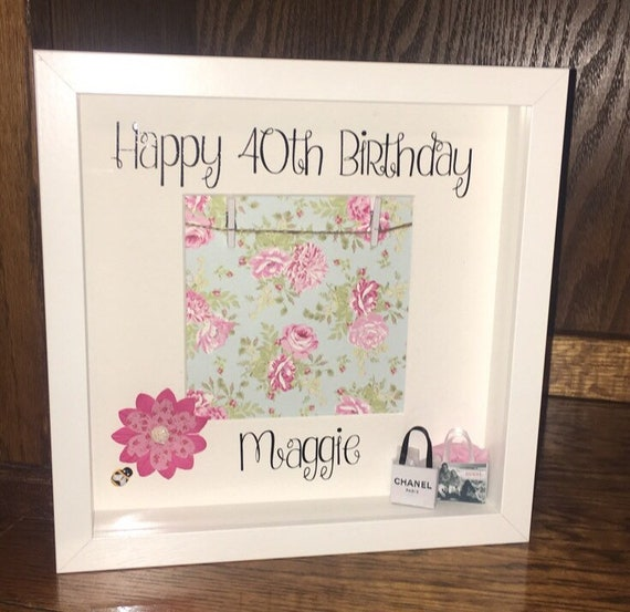 PERSONALISED ENGRAVED WOODEN BIRTHDAY PHOTO FRAME GIFT 50th 60th 70th 80th 90th