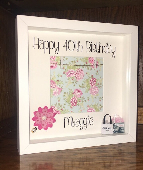 Special birthday scrabble gift frame 30th 40th 50th 60th 70th 80th 90th.