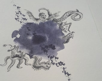 Monster postcard, Summon... Original