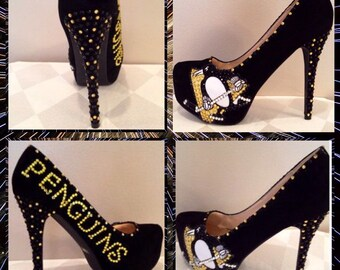 2a08ddbbe1c Hand Made Pittsburgh Penguins Heels