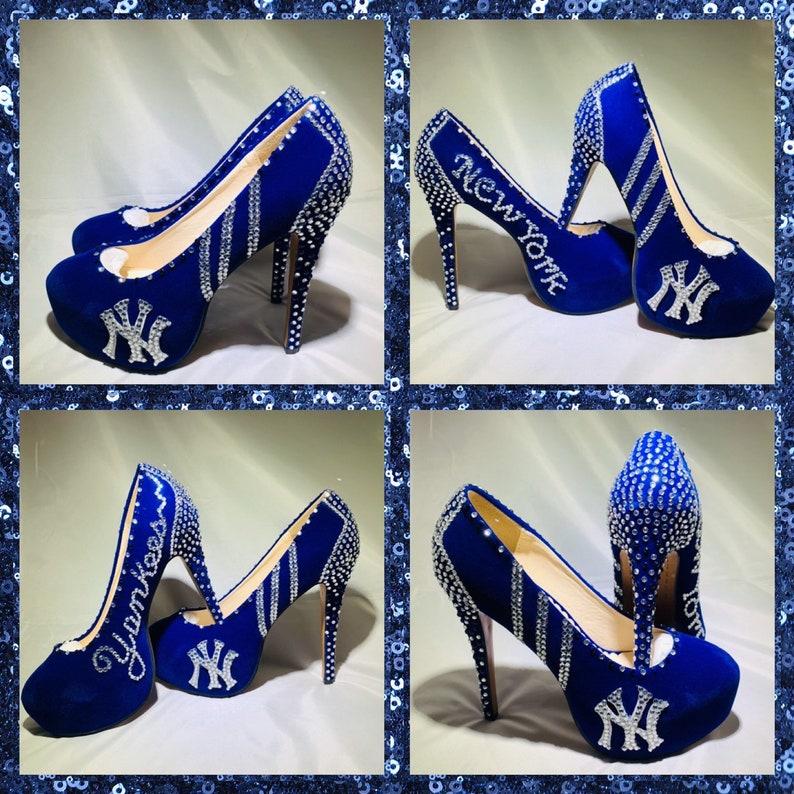 Handmade New York Yankees Heelsny Yankees Heels Ny Yankees Etsy