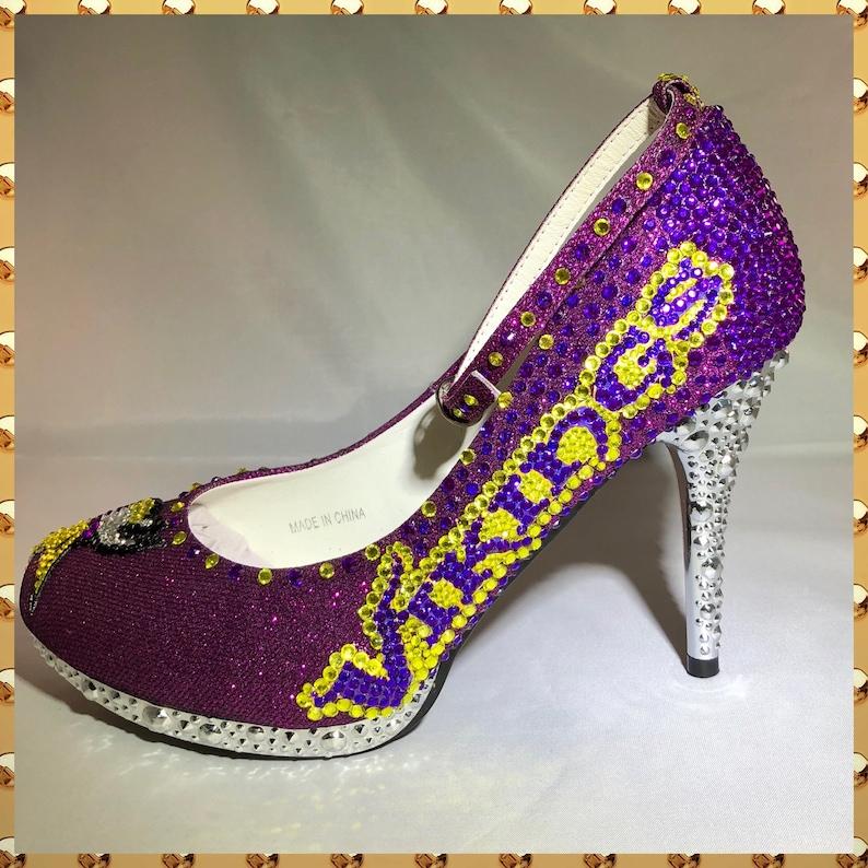 5c9f5bcb860de Handmade Custom MN Vikings Wedding Shoes Vikings rhinestone