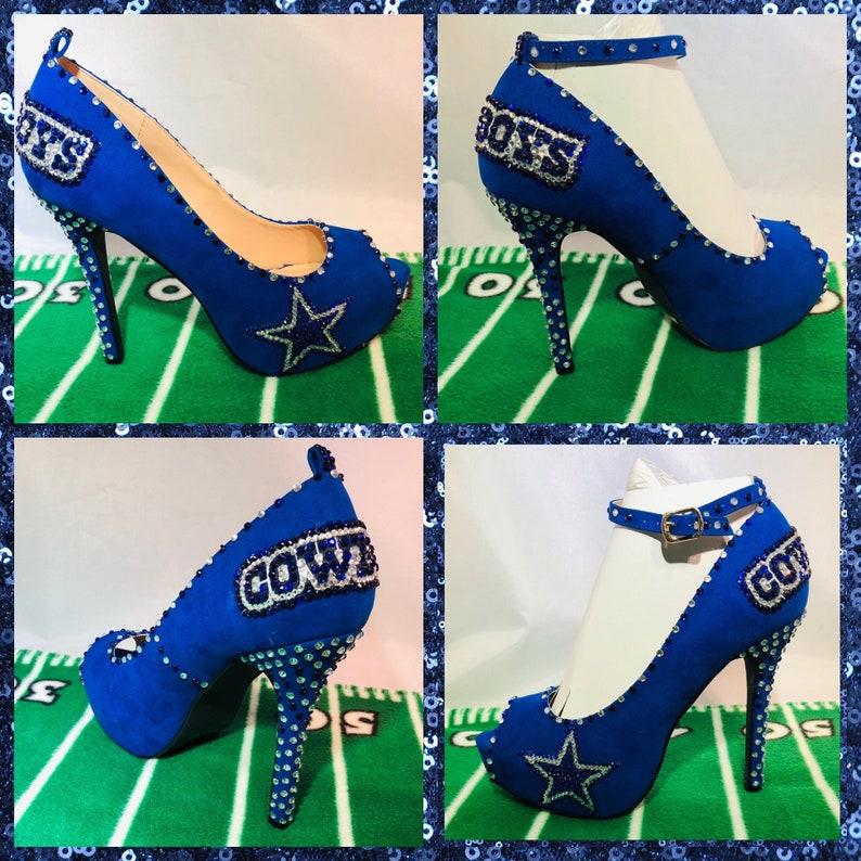 1239018c47a Custom Dallas Cowboys Heels, Cowboy heels, Dallas Cowboys Rhinestone Heels,  Stilettos,Pumps,Cowboys Platform heels,Cowboys Blue wedding heel