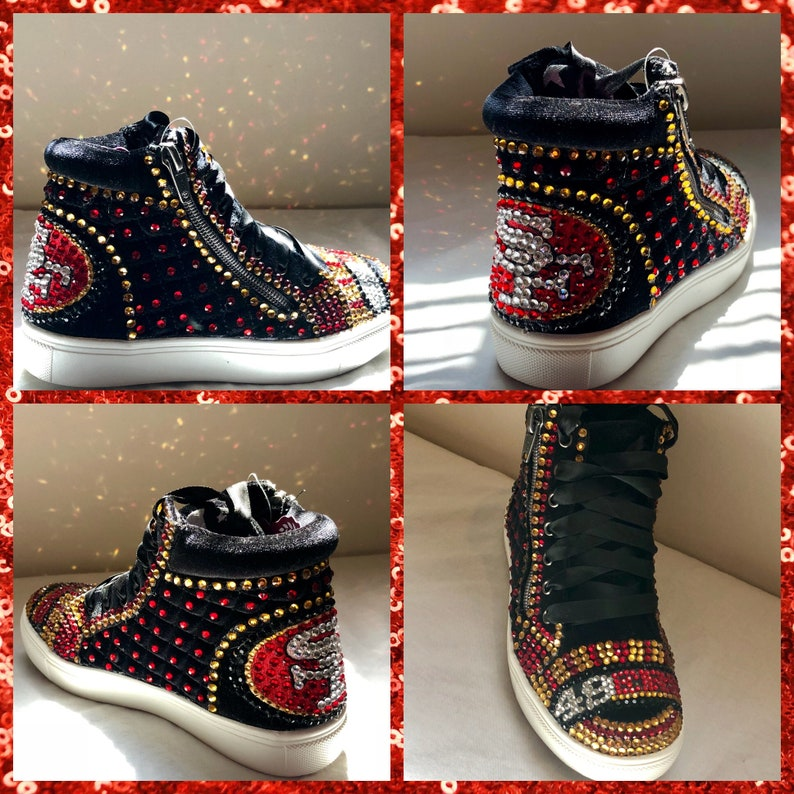 44f725eb6fe Kids 49ers sneakers Kids Bling San Francisco 49ers shoes