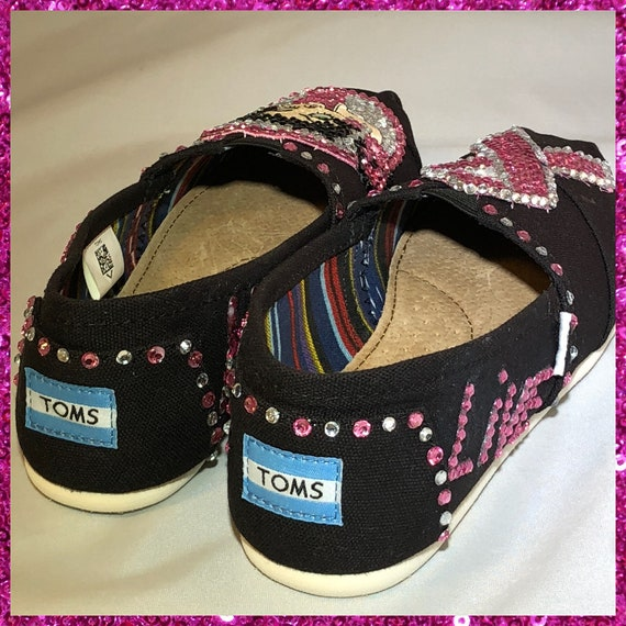 Handmade Breast Cancer Awareness Toms Shoes, Betty Boop Embroidery slip on shoes,Betty Boop Rhinestones espadrilles shoes, Cancer Survivor