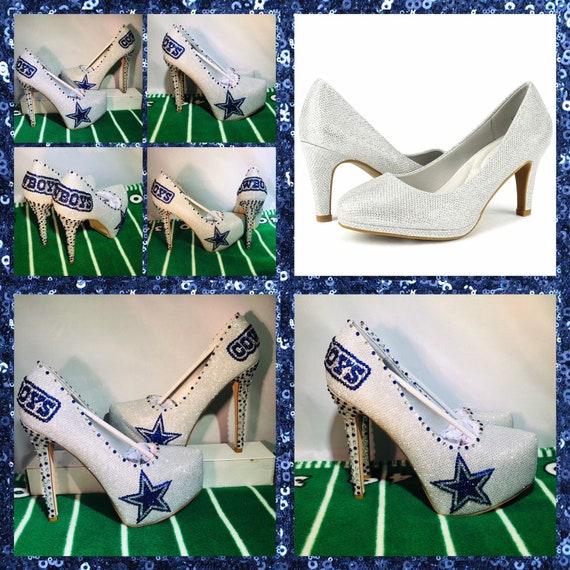 6df927abbef Handmade Custom Dallas Cowboys Heels, Cowboy heels, Dallas Cowboys  Rhinestone Heels,Stilettos,Pumps,Cowboys Platform heels,Blue wedding heel