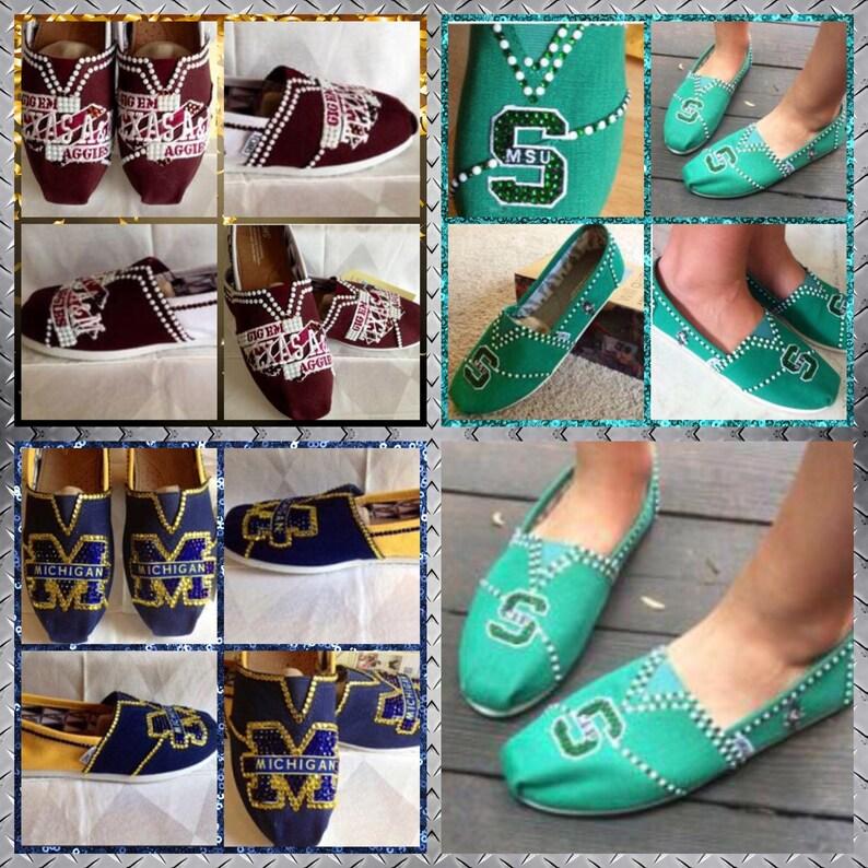 772f81e1f2d14 Handmade Custom College ShoesCollege Team Shoes College