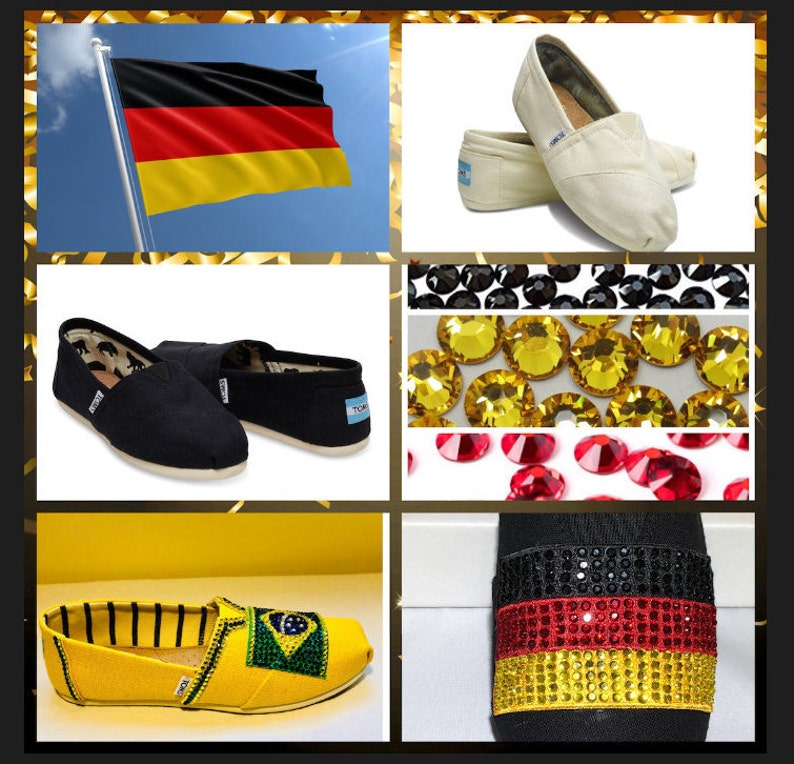 more photos 9985e 63881 Handmade Germany Futbol TOMS,Germany Soccer shoes,Germany Clothing,Germany  World Cup.Germany Flag shoes,Deutschland Women Toms espadrille
