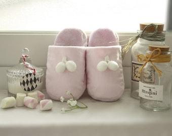 Baby Slippers - Indoor Footwear, Toddler Slippers, Nursery Decor, Gift For Baby Girl, Babyshower Gift Ideas