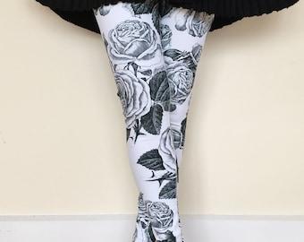 Women's Leggings, Vintage Roses