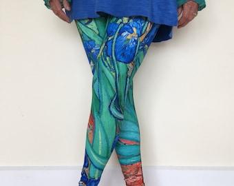 Women's Art Leggings, Van Gogh's Irises