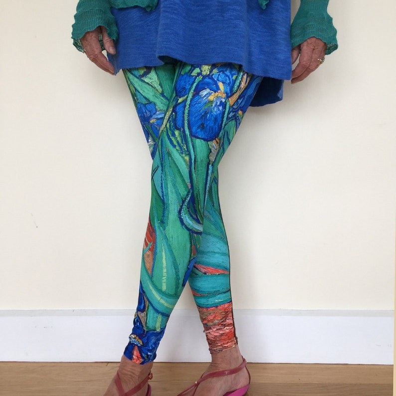 Women's Art Leggings Van Gogh's Irises image 0