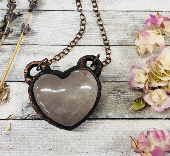 Electroformed Jewelry  Electroformed Pendant  Black Heart  Crystal Jewelry  Crystal Heart  Onyx  Electroformed  Heart  heart Pendant