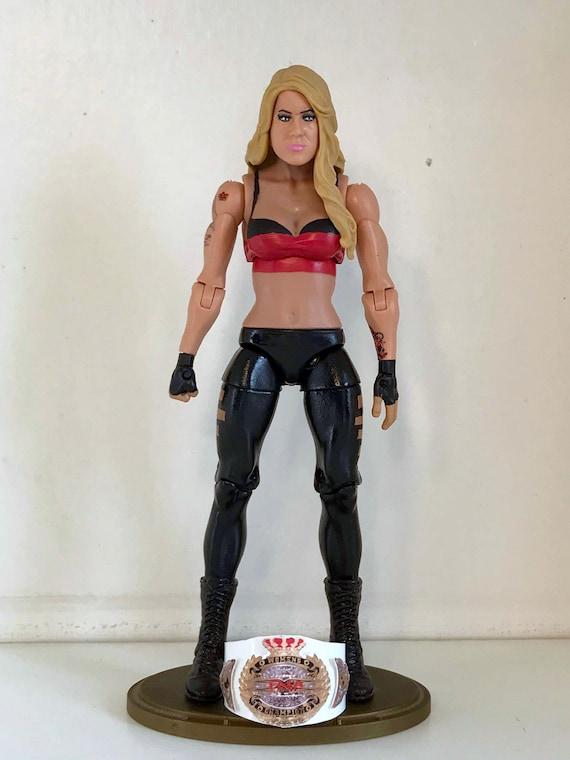 """WWE Becky Lynch /'L/' UOMO /""""Camicia personalizzato per Mattel figure."""