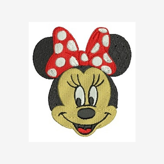 hus vp3 jef pes exp Mouse With Glasses Applique design sew dst