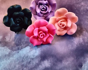 statement flower rings