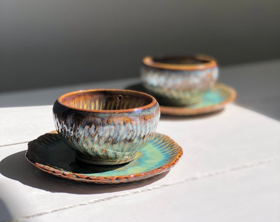 Set of two ceramic cups
