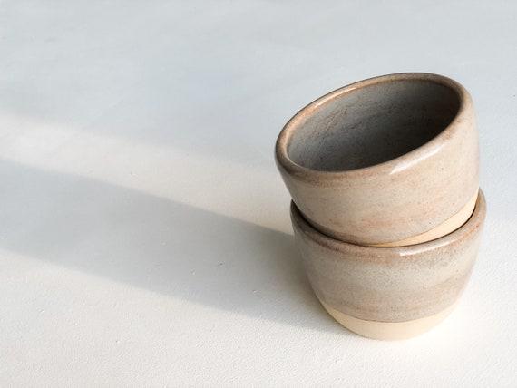 Set of two ceramic tumblers