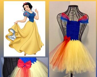 Snow White Tutu Dress Outfit, Disney Princess, Dressup, Costume